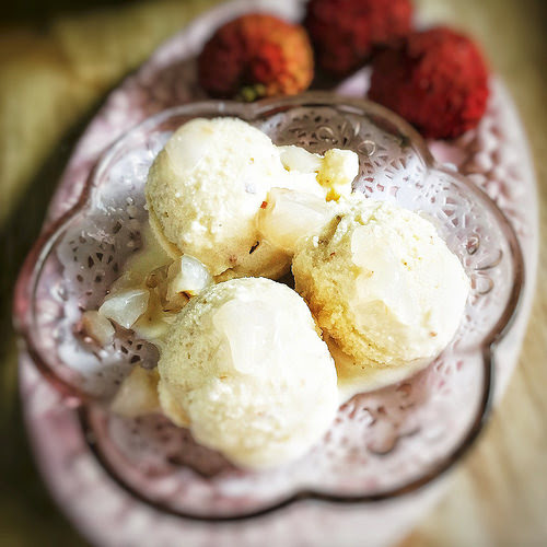 冰淇淋, 荔枝, 雪糕, Lychee, fruit, Ice Cream,  荔枝雪糕, recipe, summer fruit, no ice cream machine