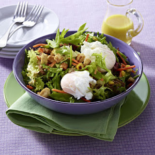 Mixed Salad with Poached Eggs
