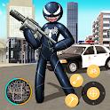Black Spider stickman Rope Hero Vice Town icon