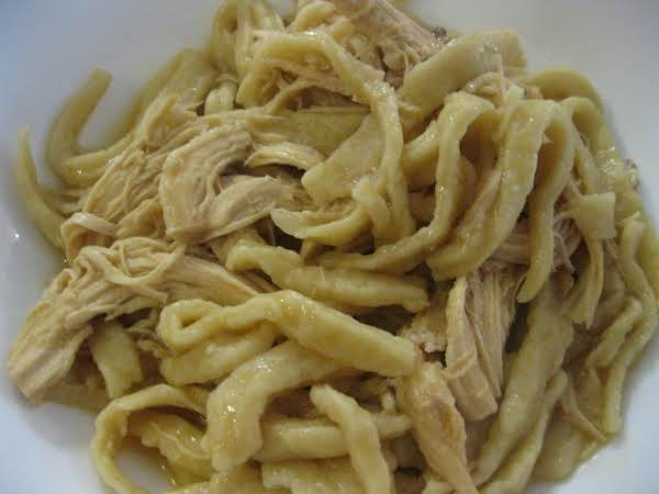 Mom's Chicken & Noodles Recipe