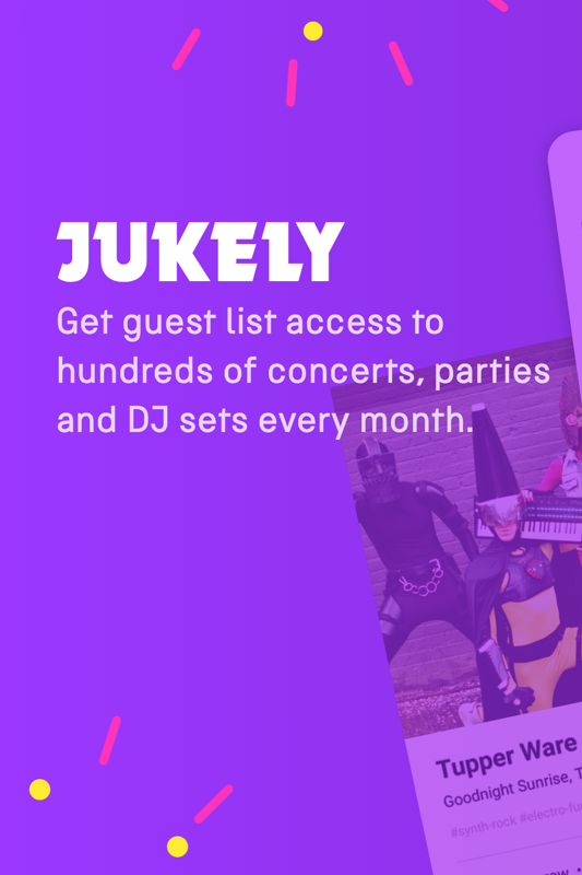 Jukely Concerts- screenshot
