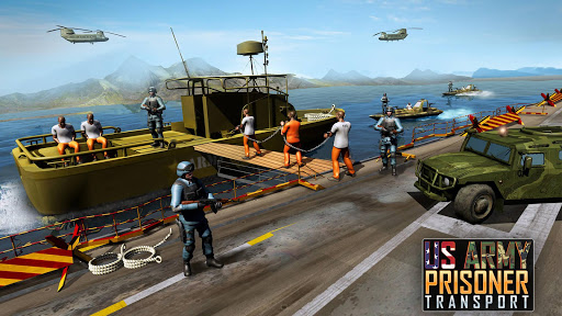 OffRoad US Army Helicopter Prisoner Transport Game  captures d'écran 1
