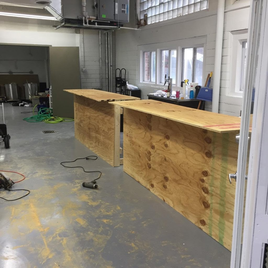 Phase 2 building bar with plywood
