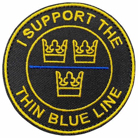 Tygmärke I support the Thin Blue Line- runt