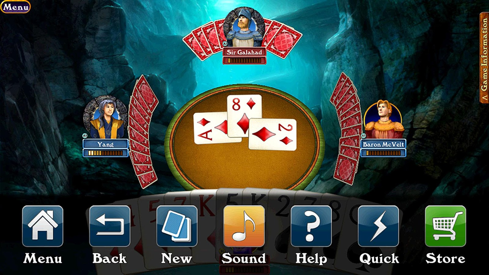 Hardwood Spades Free- screenshot