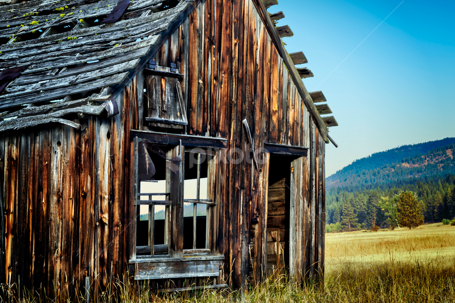 On the Range by Anthony Balzarini - Buildings & Architecture Decaying & Abandoned ( #abandond, #farmhouse, #oldfarm, #old, #montana, #shkies, #bigsky )