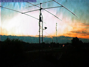 Photo: Station WB9OTX added 2 mrter 10 elm yagi beam above the tribander7/25/14