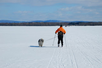 Photo: Skiing out to Knight Island State Park by Linda Carlsen-Sperry.