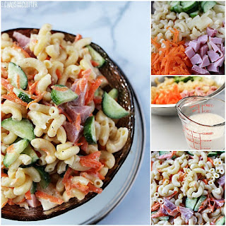 Summer Pasta Salad with Pineapple Dressing.