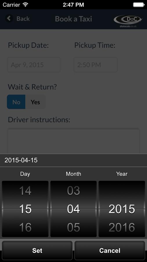 Dial-a-Cab- screenshot