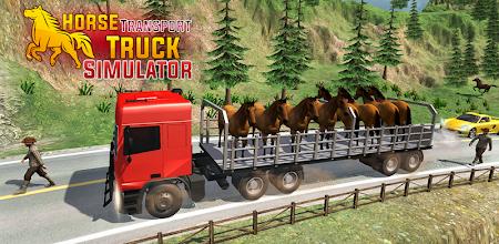 Horse Transport Truck Sim 19 -Rescue Thoroughbred APK poster