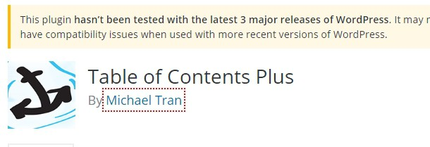 Outdated plugin
