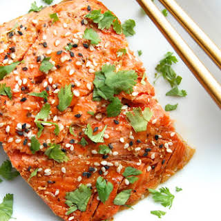 Asian Salmon With Honey Glaze.