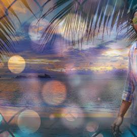 beach photography by Pranawa Kumar - Digital Art People ( beaches, sunset, model, water, creative, colorful )