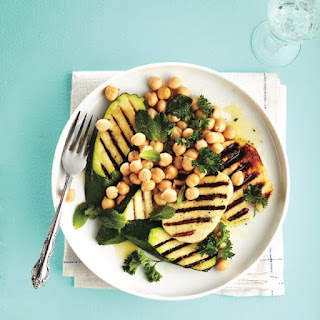 Grilled Halloumi and Vegetable Salad.