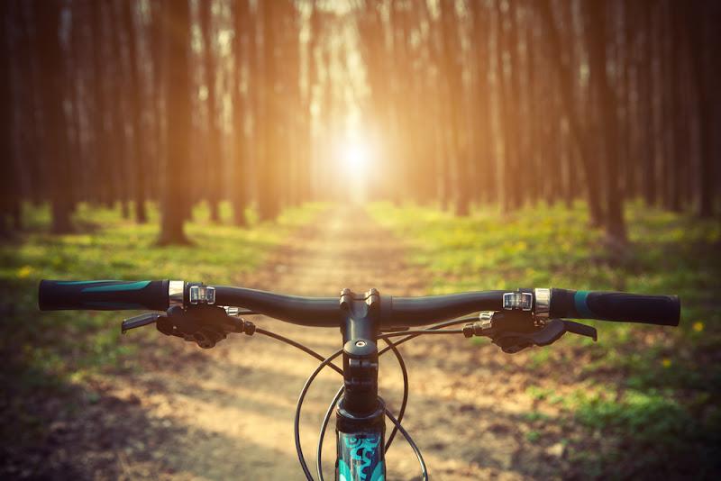 Te voet of met de fiets