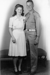 Eva and Allen on their wedding day, Dec. 31, 1943