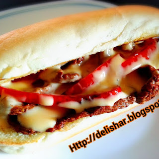 Philly Cheese Steak with Cheese Sauce Recipe