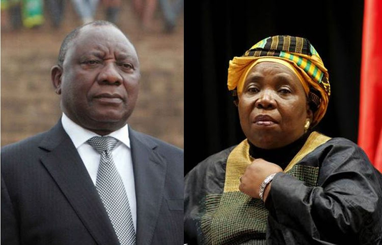 Cyril Ramaphosa and Nkosazana Dlamini-Zuma. Picture: SOWETAN and REUTERS