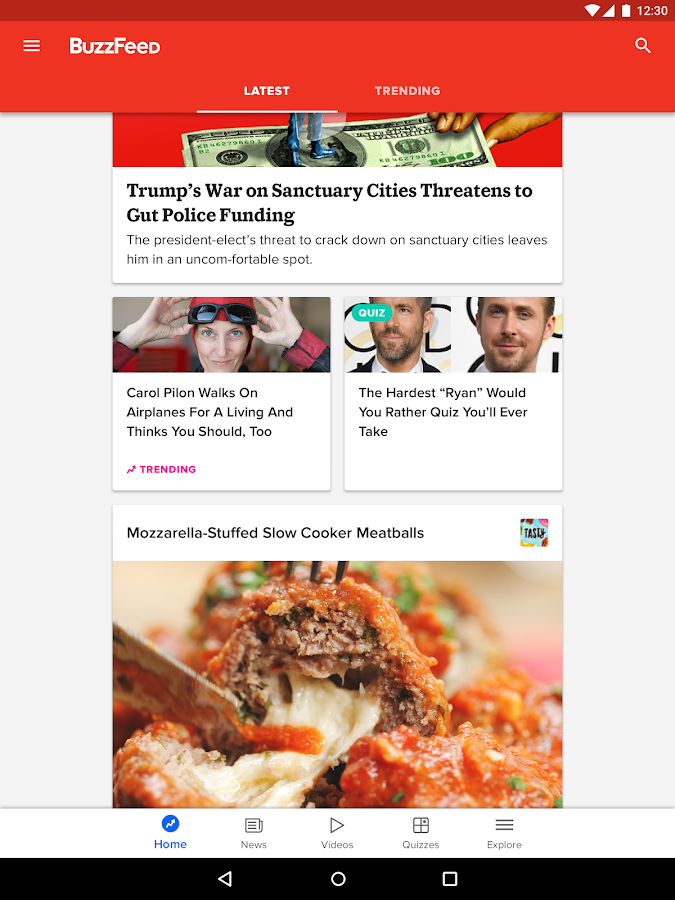 BuzzFeed: News, Tasty, Quizzes- screenshot
