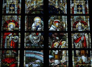 Photo: La fuite en Égypte. Saint Charles Borromée et saint Hermès (chapelle Saint-Joseph)