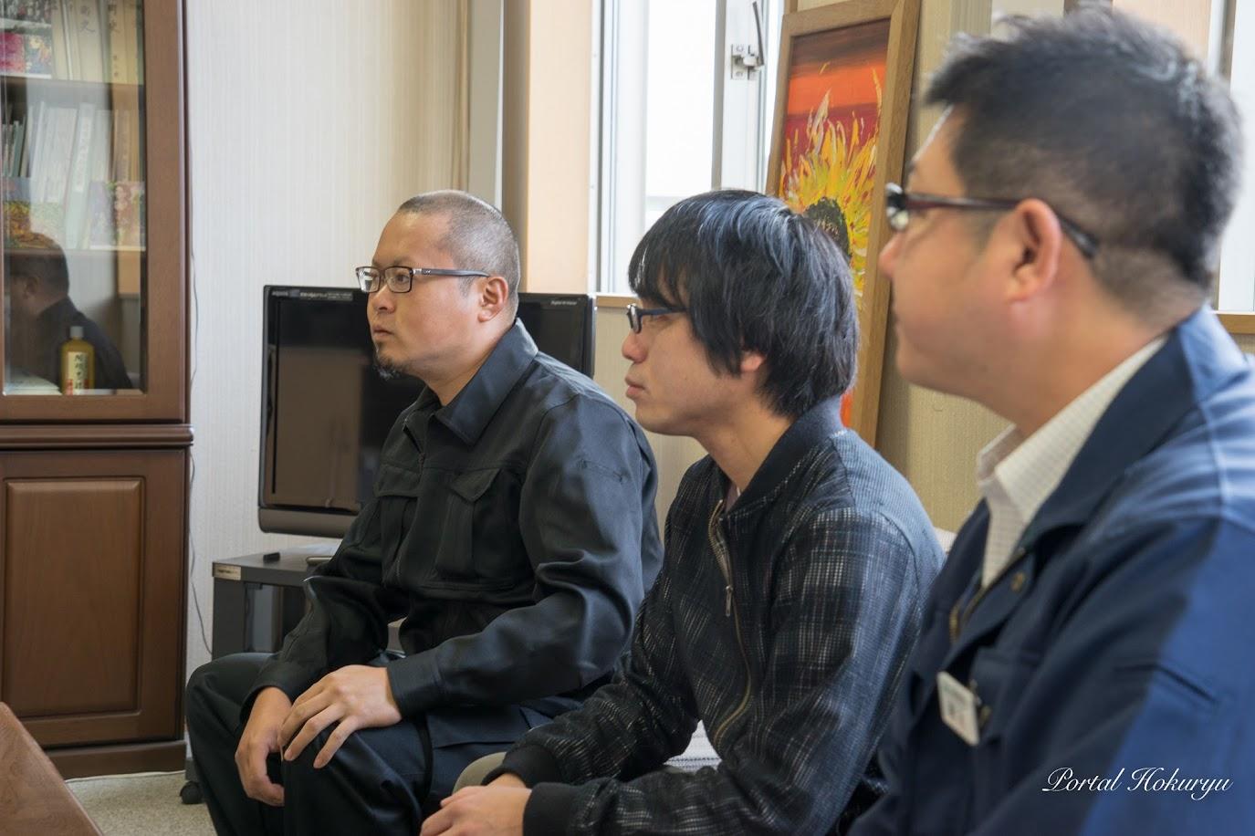 左より:チームノースドラゴン・高田昌幸 代表、三原惇平 副代表、高木真樹さん