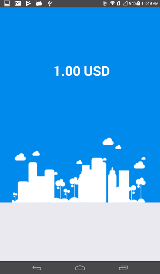 Currency Converter Exchange Rates - 1.00 USD- screenshot
