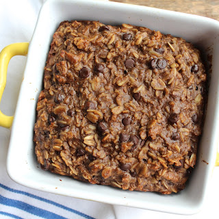 Chocolate Peanut Butter Baked Oatmeal.