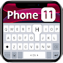 Black Phone 11 Keyboard Theme icon