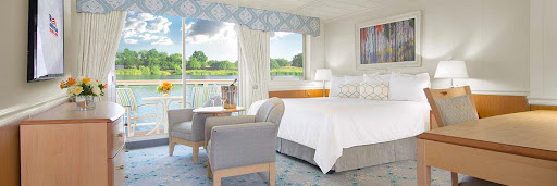 Relax in your cabin after a day of visiting river towns on your American Jazz voyage.