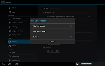 Photo: Unfortuantly we can only take screenshots, or show the reboot menu at this stage