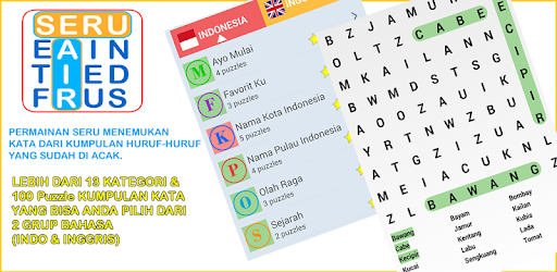 kata buat grup wa  cari kata seru by mobilcerdas com puzzle games category