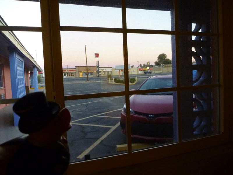 Photo: and the view out the window. this is the first time i EVER slept at a motel!