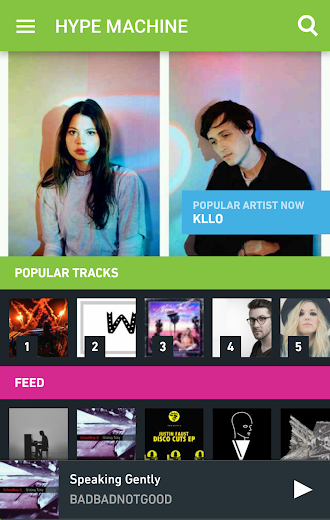 Screenshot 0 for Hype Machine's Android app'