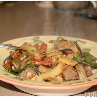 Apple Dijon Pork Stir Fry