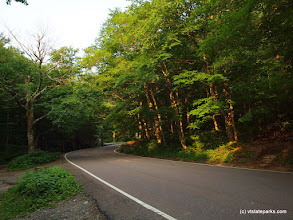 Photo: The famous winding road in Smugglers' Notch State Park by Norm & Sharon Rabtoy