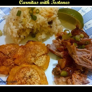 Carnitas with Tostones