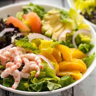 Citrus Avocado Salad with Shrimp and Smoky Vinaigrette