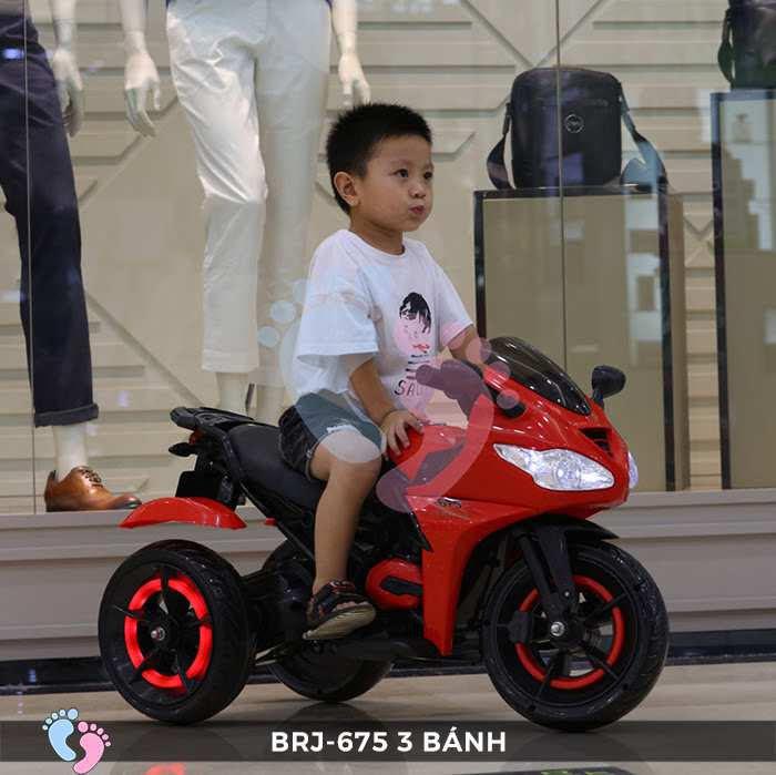 Xe moto điện trẻ em BRJ-675 3 bánh 11
