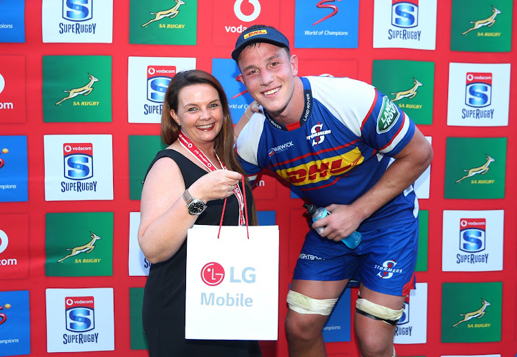 JD Schickerling of the Stormers, Man of the Match during the 2018 Super Rugby match between the Stormers and the Jaguares at Newlands Stadium, Cape Town on 17 February 2018.