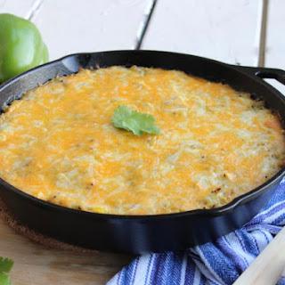 One Skillet Chicken Enchilada Quinoa Bake