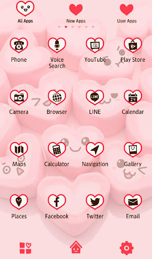 Marshmallow Hearts +HOME Theme 1.0.0 Windows u7528 3