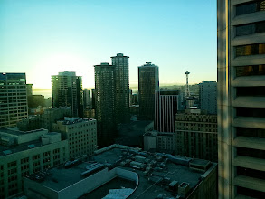 Photo: View from our room at the Grand Hyatt in Seattle.