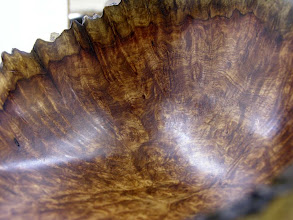 Photo: Close up of the Amboyna burl bowl