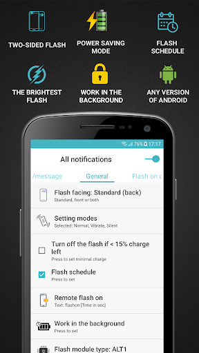 FlashOnCall (call and app) screenshot 1