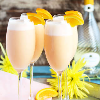 Pineapple Orange Creamsicle Mimosas.