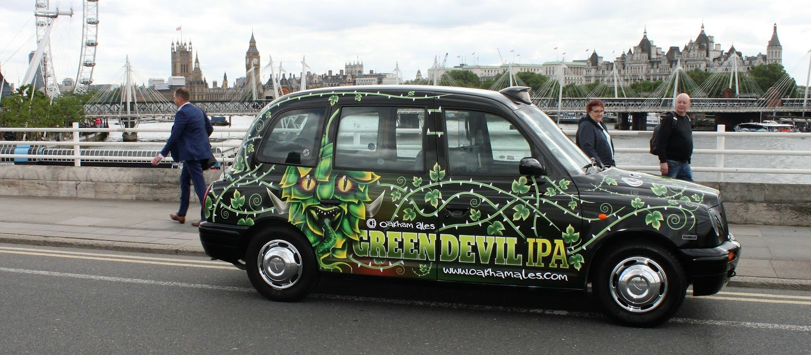 Oakham Ales - Green Devil IPA full wrap taxi