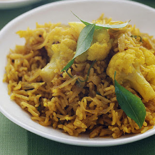 Indian Spiced Rice and Cauliflower Pilaf