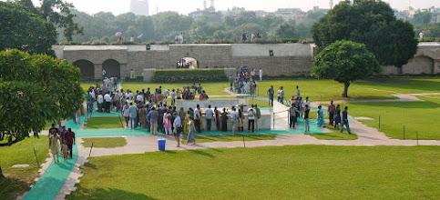 Photo: Die Gedenkstätte für Mahatma Ghandi