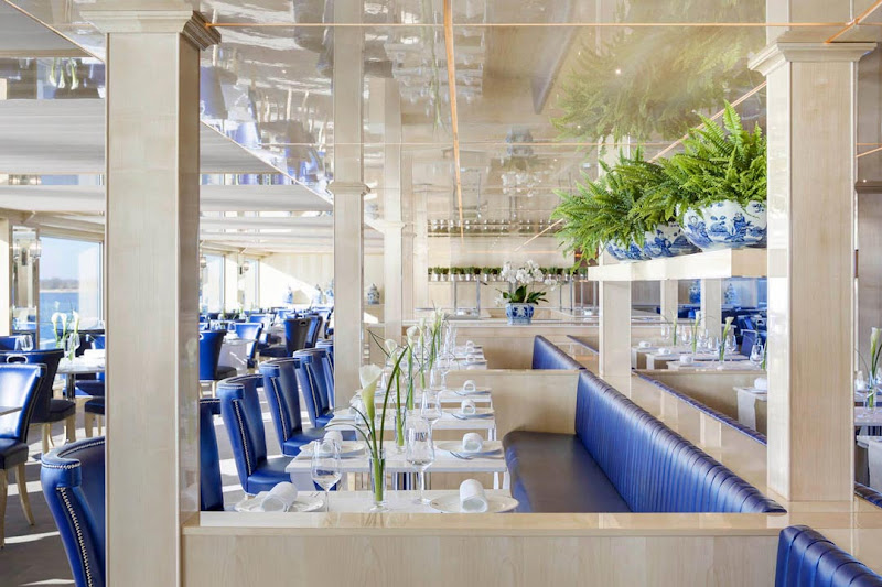 Mozart's, the main dining room on S.S. Beatrice, is open for breakfast, lunch and dinner.